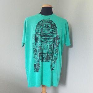New Disney Star Wars R2-D2 Robot Trilogy T-Shirt